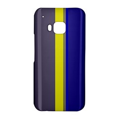 Blue and yellow lines HTC One M9 Hardshell Case