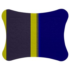 Blue and yellow lines Jigsaw Puzzle Photo Stand (Bow)