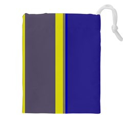 Blue and yellow lines Drawstring Pouches (XXL)