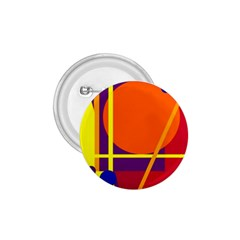 Orange abstract design 1.75  Buttons