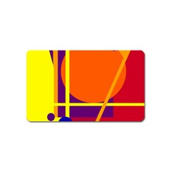 Orange abstract design Magnet (Name Card)