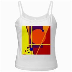Orange abstract design Ladies Camisoles