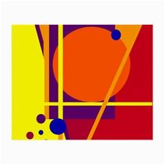 Orange abstract design Small Glasses Cloth