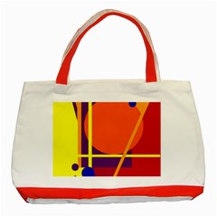 Orange abstract design Classic Tote Bag (Red)