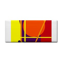 Orange abstract design Hand Towel