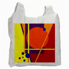Orange abstract design Recycle Bag (One Side)