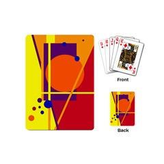 Orange abstract design Playing Cards (Mini)