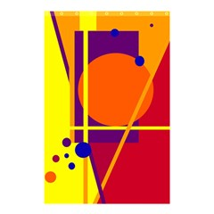 Orange abstract design Shower Curtain 48  x 72  (Small)