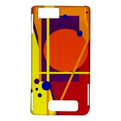 Orange abstract design Motorola DROID X2