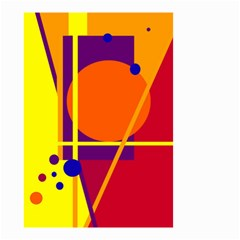 Orange abstract design Small Garden Flag (Two Sides)
