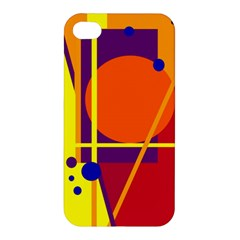Orange abstract design Apple iPhone 4/4S Premium Hardshell Case