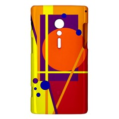 Orange abstract design Sony Xperia ion
