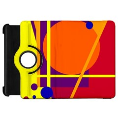 Orange abstract design Kindle Fire HD Flip 360 Case