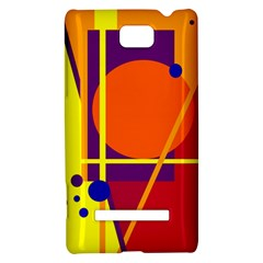 Orange abstract design HTC 8S Hardshell Case