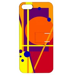 Orange abstract design Apple iPhone 5 Hardshell Case with Stand