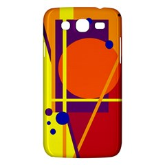Orange abstract design Samsung Galaxy Mega 5.8 I9152 Hardshell Case