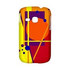 Orange abstract design Samsung Galaxy S6310 Hardshell Case