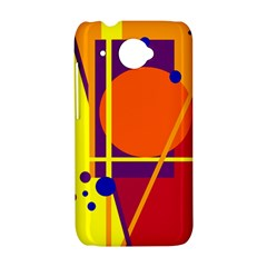 Orange abstract design HTC Desire 601 Hardshell Case