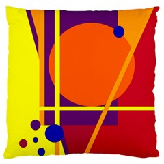 Orange abstract design Standard Flano Cushion Case (One Side)