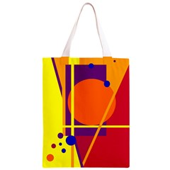Orange abstract design Classic Light Tote Bag