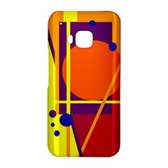 Orange abstract design HTC One M9 Hardshell Case