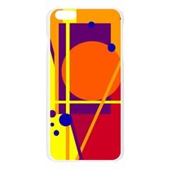 Orange abstract design Apple Seamless iPhone 6 Plus/6S Plus Case (Transparent)