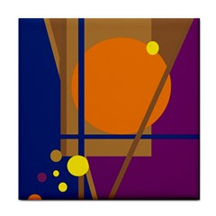 Decorative abstract design Tile Coasters