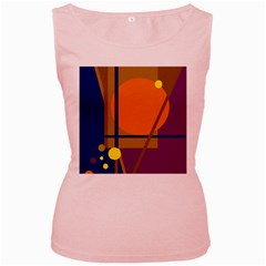 Decorative abstract design Women s Pink Tank Top