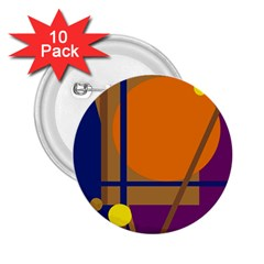 Decorative abstract design 2.25  Buttons (10 pack)