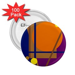 Decorative abstract design 2.25  Buttons (100 pack)