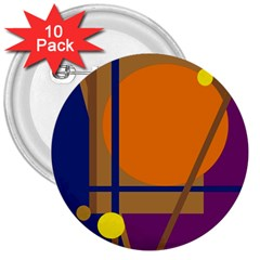 Decorative abstract design 3  Buttons (10 pack)