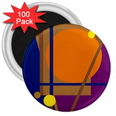 Decorative abstract design 3  Magnets (100 pack)