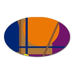 Decorative abstract design Oval Magnet