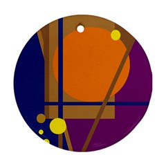 Decorative abstract design Round Ornament (Two Sides)