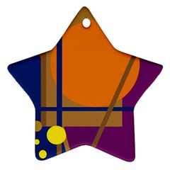 Decorative abstract design Star Ornament (Two Sides)