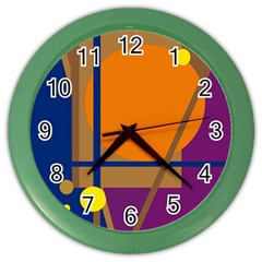 Decorative abstract design Color Wall Clocks