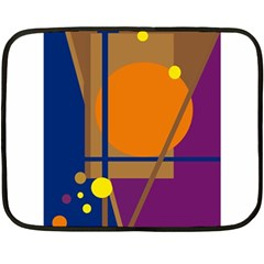 Decorative abstract design Double Sided Fleece Blanket (Mini)