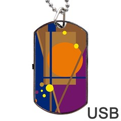 Decorative abstract design Dog Tag USB Flash (Two Sides)