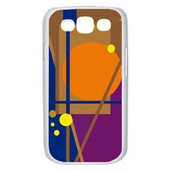 Decorative abstract design Samsung Galaxy S III Case (White)