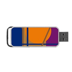 Decorative abstract design Portable USB Flash (One Side)