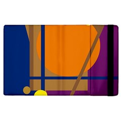 Decorative abstract design Apple iPad 2 Flip Case