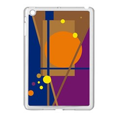 Decorative abstract design Apple iPad Mini Case (White)