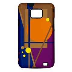 Decorative abstract design Samsung Galaxy S II i9100 Hardshell Case (PC+Silicone)