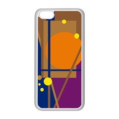 Decorative abstract design Apple iPhone 5C Seamless Case (White)