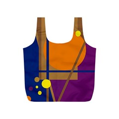 Decorative abstract design Full Print Recycle Bags (S)