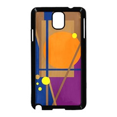 Decorative abstract design Samsung Galaxy Note 3 Neo Hardshell Case (Black)