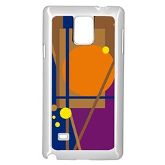 Decorative abstract design Samsung Galaxy Note 4 Case (White)