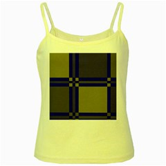 Blue design Yellow Spaghetti Tank