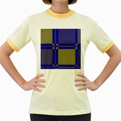 Blue design Women s Fitted Ringer T-Shirts