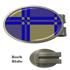 Blue design Money Clips (Oval)